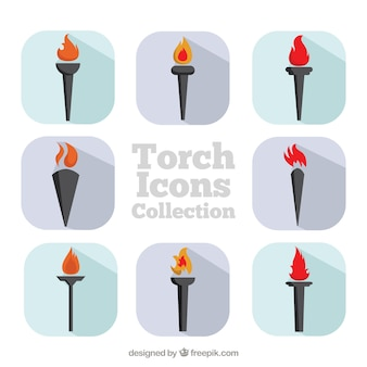 Torch icons collection