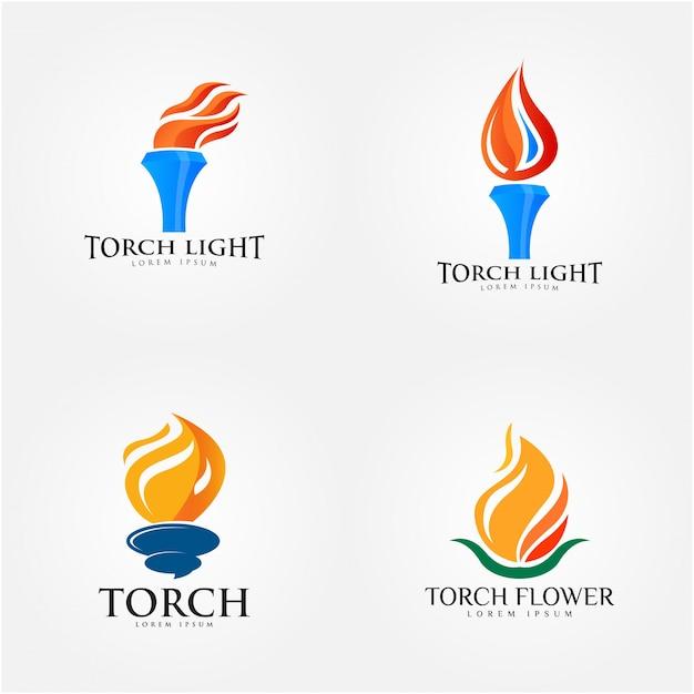Torch logo design