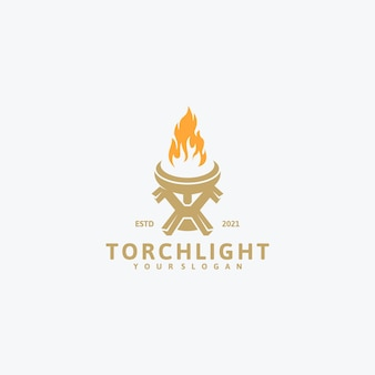 Torch logo, reference logo for company