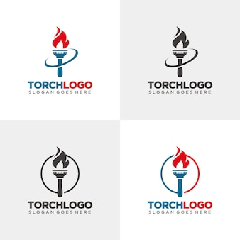 Torch logo template