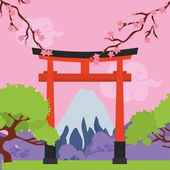 Ворота тории японские