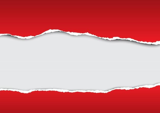 破れた紙の背景デザイン
