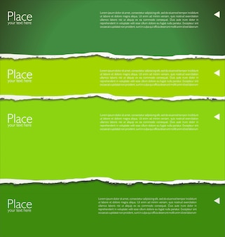 Разорванный справочный документ с пространством для текста