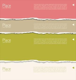 Рваной бумаги фон с пространством для текста