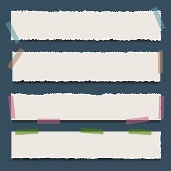 テキスト用のスペースと破れた紙の背景