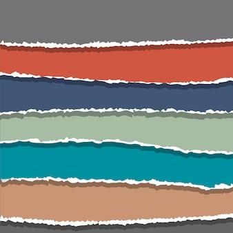 Рваные бумажные баннеры