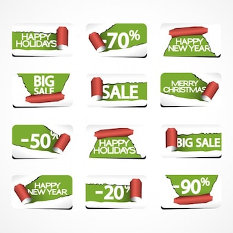 Torn paper discount tags pack