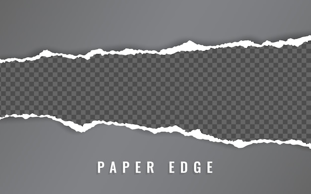 Torn paper edge. torn paper stripes. ripped squared horizontal paper strips.