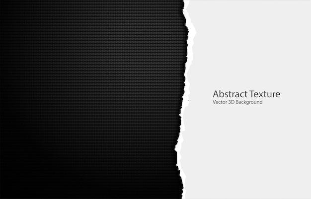 Рваные края бумаги на текстуре углеродного волокна.