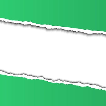 テキストの破れた紙フレーム