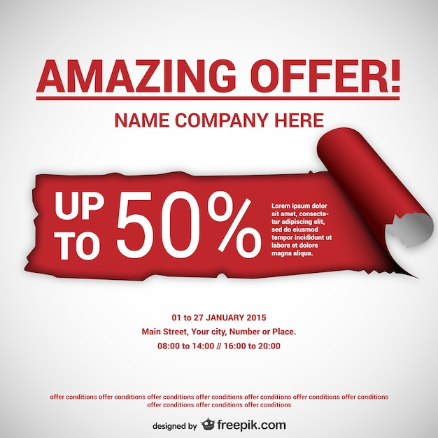 special discount offer letter format