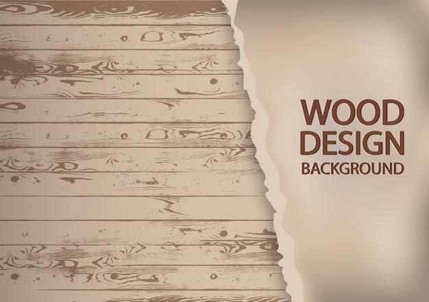 古い木製の背景に破れた紙。