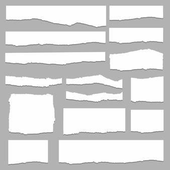Torn paper set vector, layered