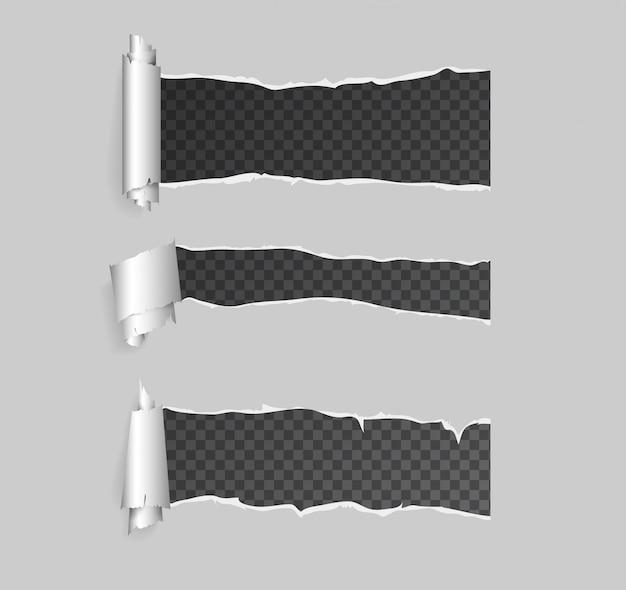 Torn paper set