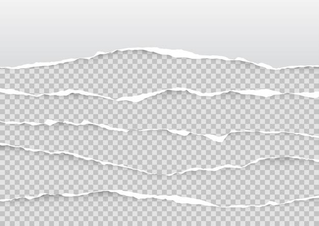 Набор рваных листов бумаги Premium векторы