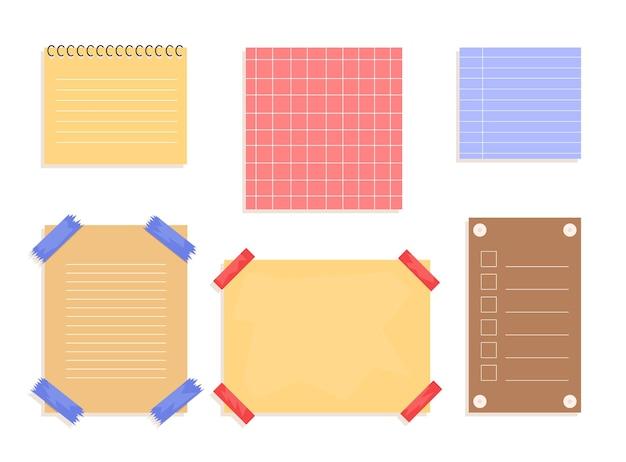 Рваные бумажные листы со скотчем