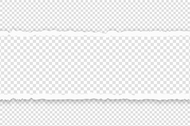 Torn paper with ripped edges. squared ripped horizontal grey paper with empty spase for text. rip tear white banner template.