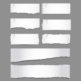 Torn papers with clips pack