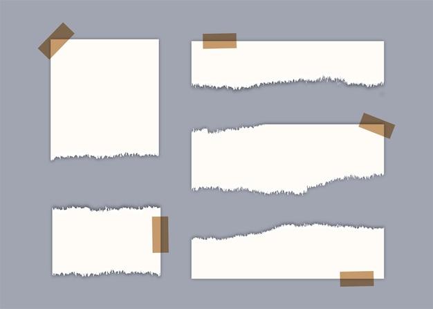 Дизайн рваных листов бумаги