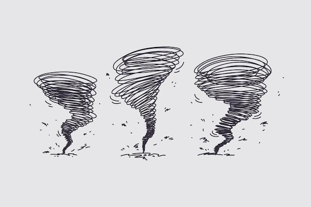 Tornado hurricane on nature concept