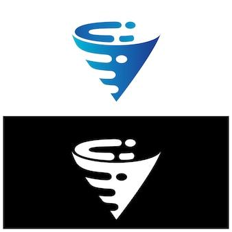 Абстрактный векторный логотип tornado