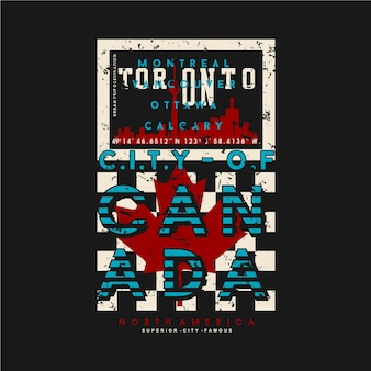 Торонто канада графический типографика дизайн