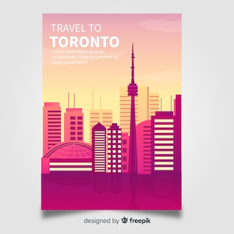 Toronto flyer template