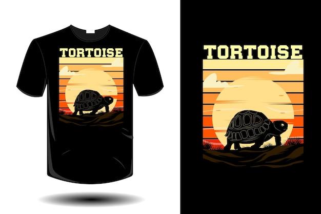 Tortoise mockup retro vintage design