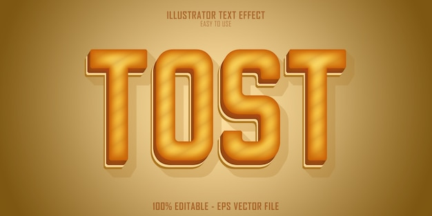 Tost  text style effect