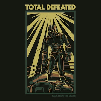 Total defeated illustration