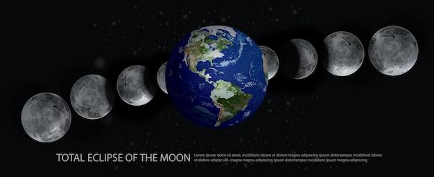 Illustrazione di eclissi totale della luna