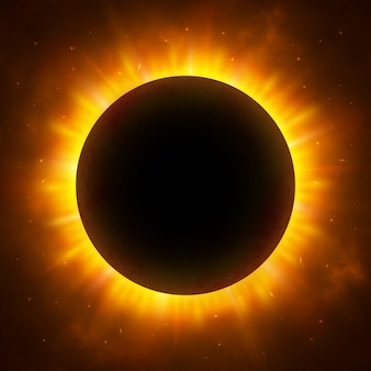 Total eclipse of the sun. solar eclipse.