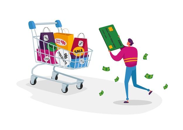Общая распродажа и праздничная концепция скидок