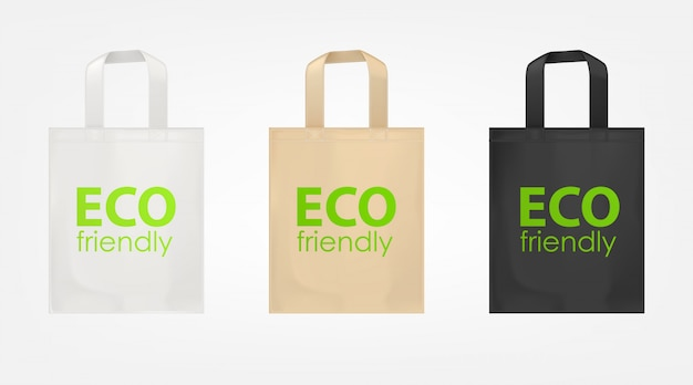 Tote shopping eco bags set