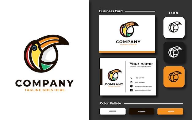 Шаблон логотипа птицы тукан