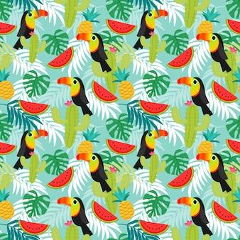 Toucan birds pattern.