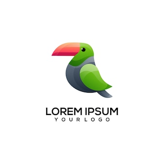 Тукан красочный логотип иллюстрации