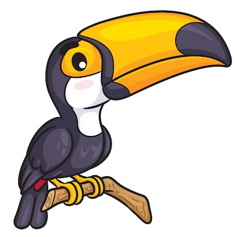 Toucan cute cartoon