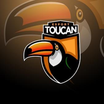 Toucan head logo gaming esport