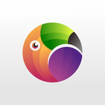 Toucan logo, 3d, template, illustration