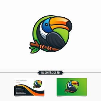 Toucan logo design illustration template modern