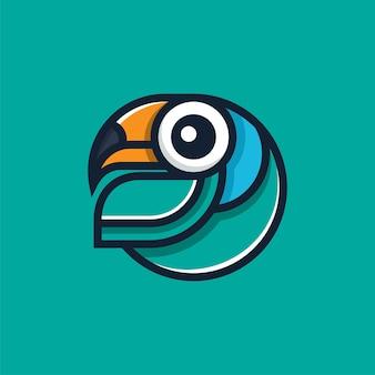 Тукан логотип дизайн иллюстрации шаблон современный