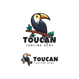 Toucan logo design ilustration template modern