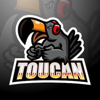 Toucan mascot esport logo design