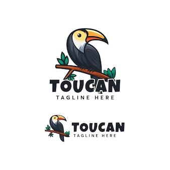 Toucan дизайн логотипа иллюстрационная шаблон modern