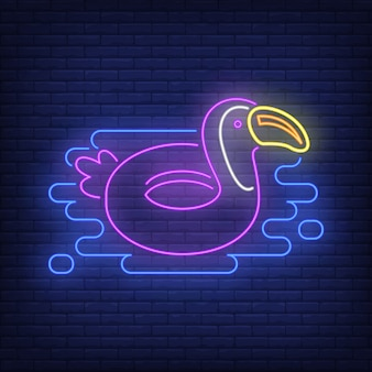 Toucan rubber ring neon sign