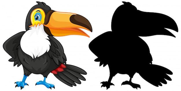 실루엣 큰 부리 새