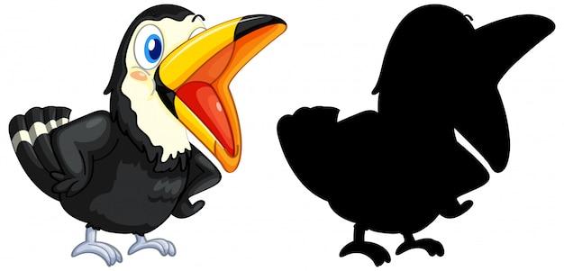 Tucano con la sua silhouette