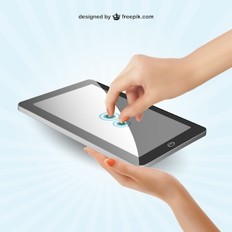 Touch screen illustration vector