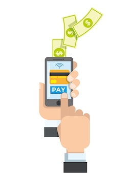 Touch smartphone to payment